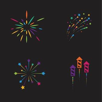 Icône de feux d'artifice colorés