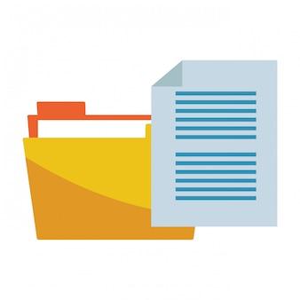 Icône de fichier isolé de documents