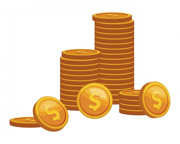 Icône de finance de pièces