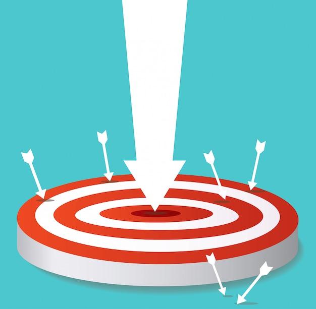 Icône de flèche sur cible tir à l'arc