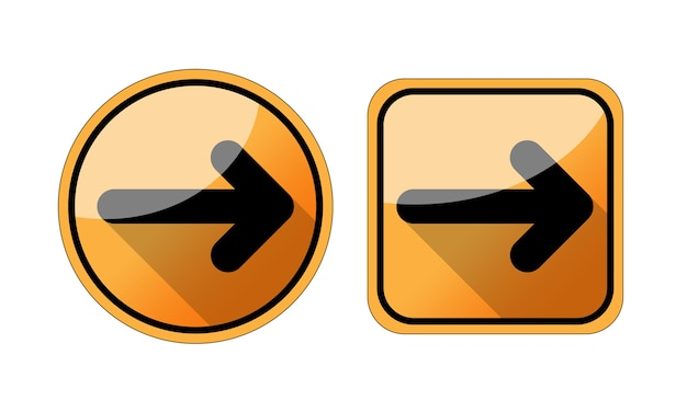 Icône de flèche dans un style branché plat isolé sur fond blanc. symbole de la flèche