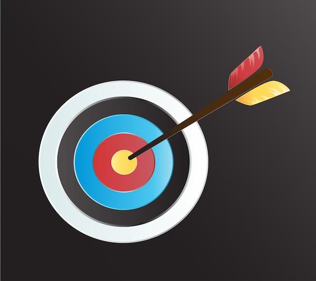 Icône de flèches sur cible tir à l'arc