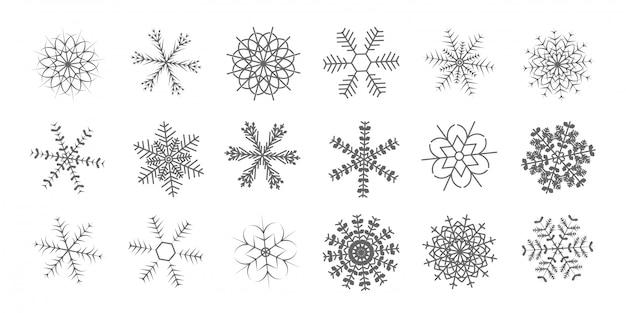 Icône de flocons de neige brillants