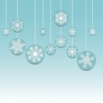 Icône de flocons de neige joyeux noël