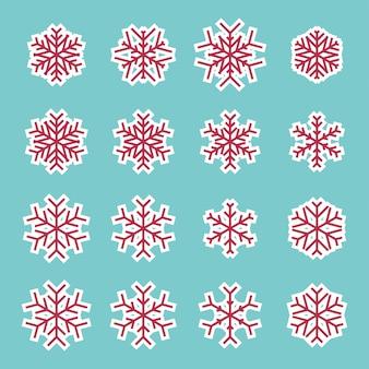 Icône de flocons de neige