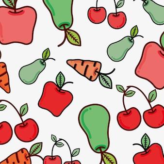 Icône de fond de fruits et légumes figure