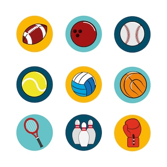 Icône de fond de jeu de sport
