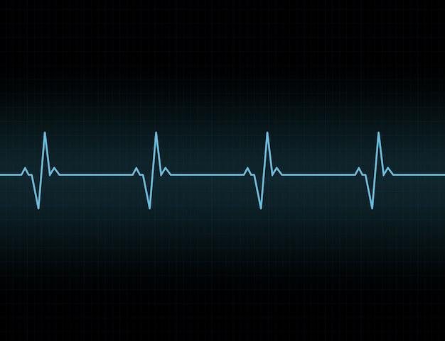 Icône de fond de ligne de battement de coeur.