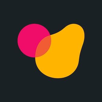 Icône de forme abstraite, illustration vectorielle design plat