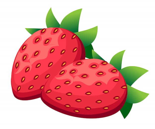 Icône de fraise mûre. sur fond blanc. illustration sur fond blanc.