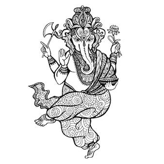 Icône de ganesha dansant