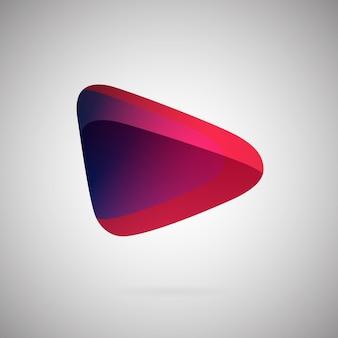 Icône géométrique dégradé abstrait illustration vectorielle colorée emblème de couleur blanc