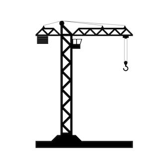 Icône de grue à tour de construction - vecteur, design plat. eps 10