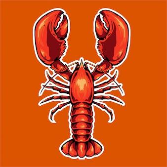 Icône de homard pour mascotte
