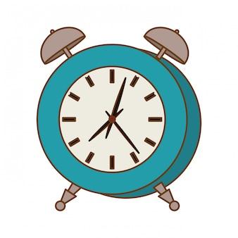 Icône de l'horloge des alarmes bleues
