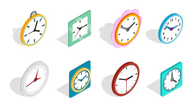 Icône d'horloge sur fond blanc