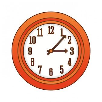 Icône de l'horloge murale orange
