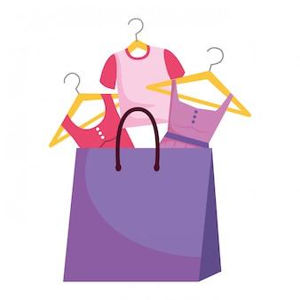 Icône illustration de sac à provisions