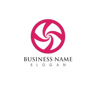 Icône d'illustration vectorielle vortex logo template design