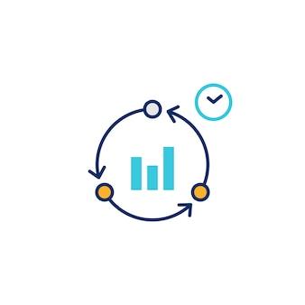 Icône illustrative du temps de cycle de travail productif