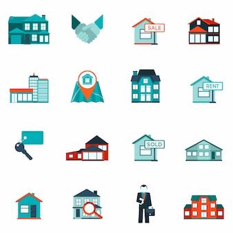Icône de l'immobilier plat