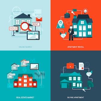 Icône de l'immobilier