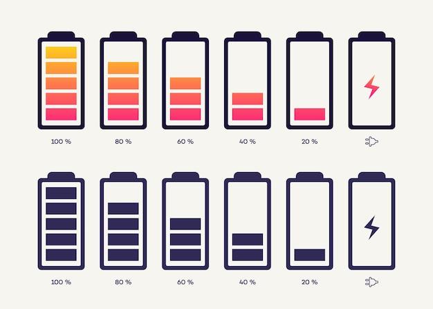 Icône d'indicateur de charge de la batterie