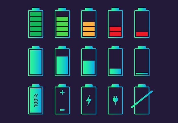 Icône d'indicateur de charge de la batterie.