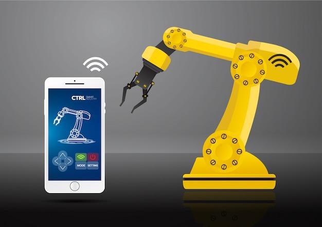 Icône de l'industrie 4.0 concept