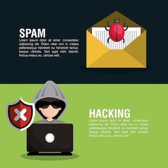 Icône d'information de sécurité internet