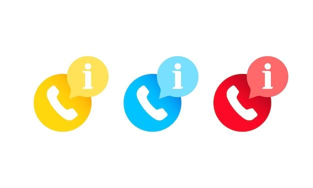 Icône d'informations d'appel. utiliser pour l'application mobile, pictogramme d'interface utilisateur. vecteur sur fond blanc isolé. eps 10.