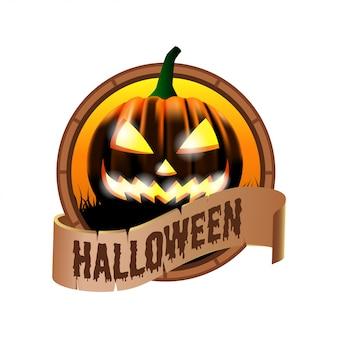 Icône d'insigne d'emblème d'halloween