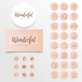 Icône d'instagramme moderne simple icônes d'histoire