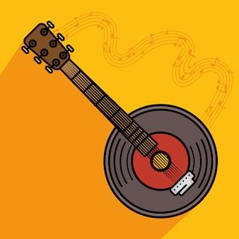 Icône d'instrument de musique banjo