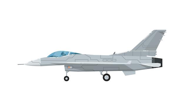 Icône isolé d'un avion d'assaut à réaction militaire