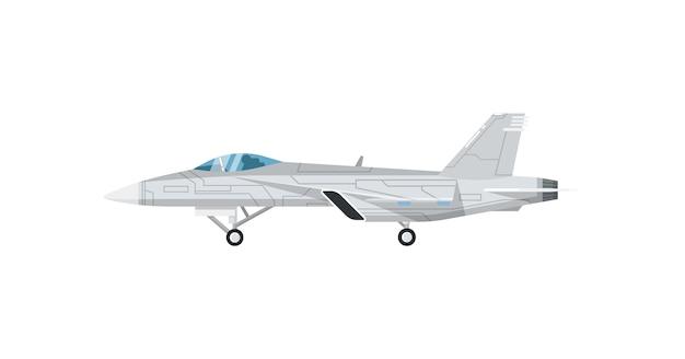 Icône isolé de l'avion de guerre jet