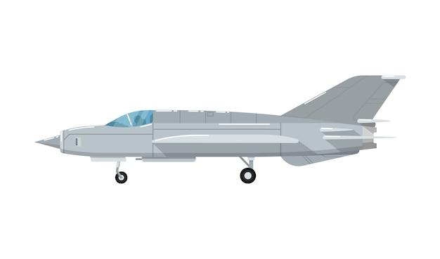 Icône isolé de l'avion jet de combat armée