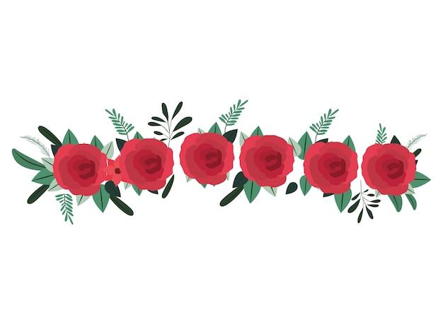 Icône isolé belle décoration rose