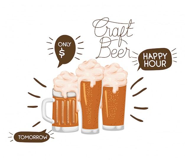 Icône isolé de la bière artisanale