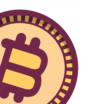 Icône isolé bitcoin
