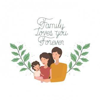 Icône isolé de bonne famille jour étiquette