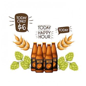 Icône isolé bouteille de bière