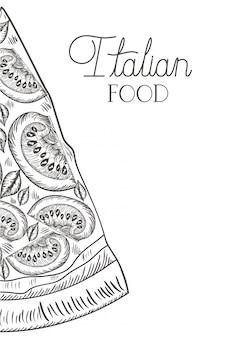 Icône isolé de délicieuse pizza italienne