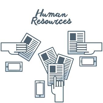 Icône isolé du concept de ressources humaines