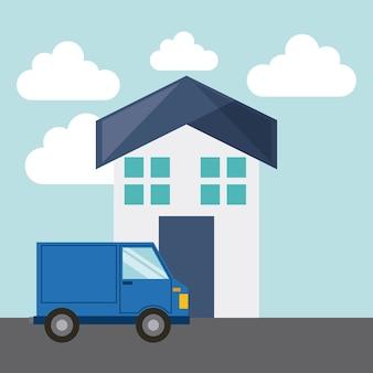Icône isolé du concept de service de livraison