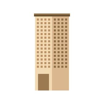 Icône isolé grand bâtiment