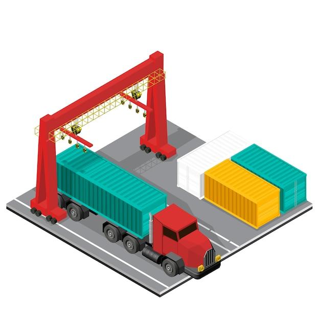 Icône isolé industriel de logistique affaires sur fond