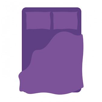 Icône isolé lit confortable