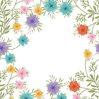 Icône isolé motif fleurs