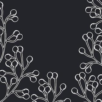 Icône isolé motif plantes et herbes